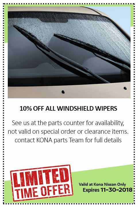oil change coupon kona nissan hawaii