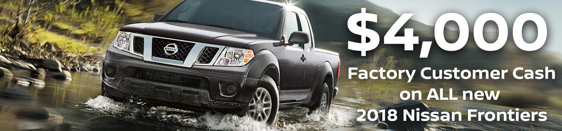 4000 Customer Cash on Nissan Frontier